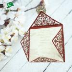 Special laser Cutting wedding card- sn 2020