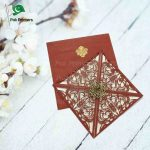 Laser Cut Wedding Invitation card