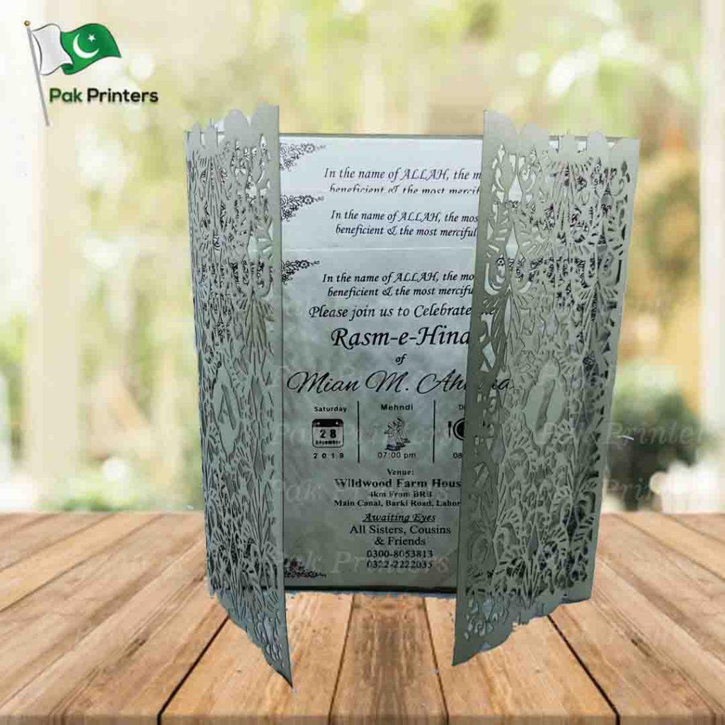 laser cut wedding invitation card