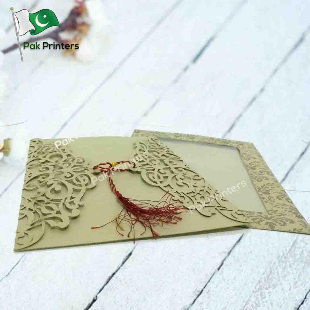 laser cutting wedding cards
