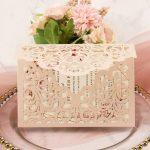 bridal shower invitation card blush