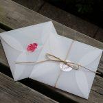 Western square retro transluce wedding card