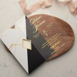 black and white mixed envelopes wedding card