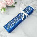 blue glitter paper exquisite laser wedding card