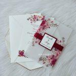flower printed wedding card