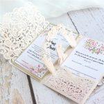 wedding invitations marriage laser cut card